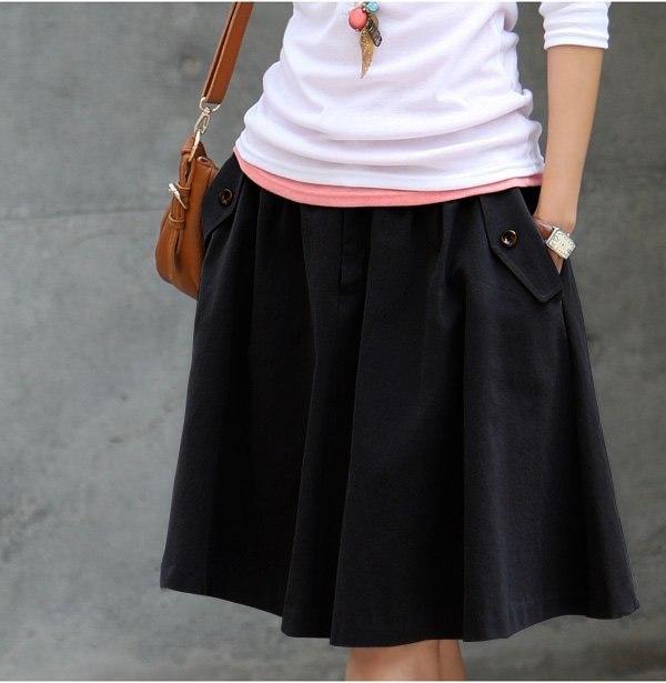 Модные юбки с карманами